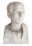 Vieux buste du philosophe grec Posidonius d'isolement au-dessus du blanc Photo libre de droits