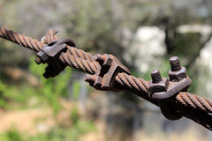 Vieux câble rouillé photo libre de droits
