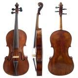 Vieux côtés de violon Photo stock