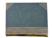Vieux cache de cuir et de livre de toile photographie stock