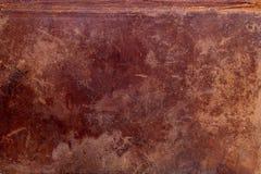 Vieux cache de livre en cuir Photos libres de droits