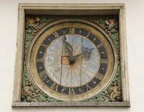 Vieux cadran d'horloge images libres de droits