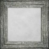 Vieux cadre avec la toile rayée grise Images libres de droits