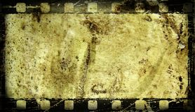Vieux cadre de film image stock