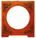Vieux cadre en bois Images stock