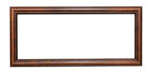 Vieux cadre en bois sur le blanc Image stock