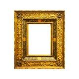Vieux cadre rectangulaire antique d'isolement Images stock
