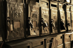 Vieux cadres postaux photos libres de droits