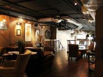 Vieux café de ville Photographie stock libre de droits