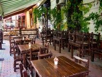 Vieux café de ville, Lviv Photos stock
