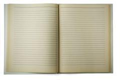Vieux cahier rayé Photos libres de droits