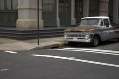 Vieux camion dans NYC image stock