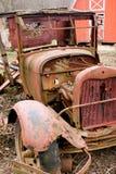 Vieux camion de camionnette de livraison Photo stock