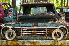 Vieux camion de chute photo libre de droits