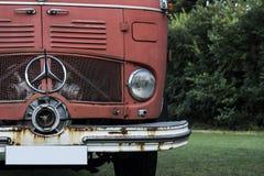 Vieux camion de pompiers de Mercedes Photo stock
