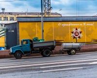 Vieux camion en Russie Images libres de droits