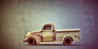 Vieux camion pick-up dans la vieille photo grunge Photo libre de droits