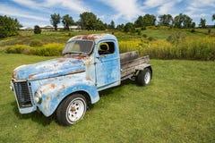 Vieux camion rouillé et vieille caravane dans Stowe Vermont Photos libres de droits