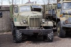 Vieux camion soviétique Photographie stock libre de droits