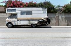 Vieux camping-car Photo stock