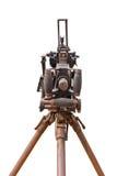 Vieux canon à l'isolat de musée sur le blanc Image libre de droits