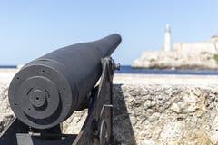 Vieux canon à La Havane Photographie stock libre de droits