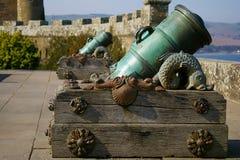 Vieux canon écossais, château de Culzean, Annan Image libre de droits