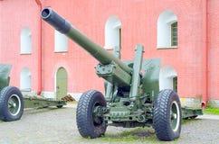 Vieux canon d'artillerie d'armée Image stock