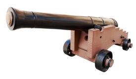 Vieux canon d'isolement Image stock