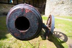Vieux canon de champ Image libre de droits
