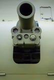 Vieux canon de vert de la deuxième guerre mondiale image libre de droits