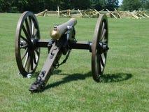Vieux canon en bronze de guerre civile Images stock