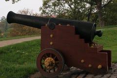 Vieux canon sur une colline au château de Copenhague Photo stock