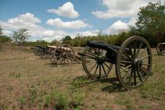 Vieux canons américains de guerre civile image libre de droits