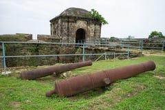 Vieux canons espagnols au Panama image libre de droits