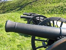 Vieux canons médiévaux Images stock