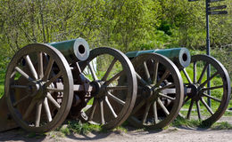 Vieux canons russes Photographie stock
