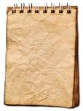 Vieux carnet de notes à spirale de papier Photos libres de droits