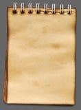 Vieux carnet de notes à spirale de papier Image libre de droits