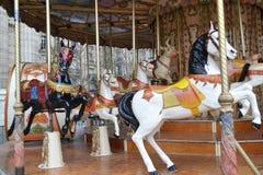 Vieux carrousel français Image libre de droits