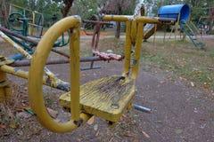 Vieux carrousel jaune Images libres de droits