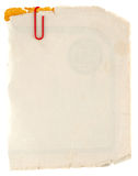 Vieux carton sale Photographie stock libre de droits