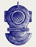 Vieux casque de plongée Photos libres de droits