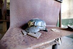 Vieux casque du ` s de mineur photos libres de droits