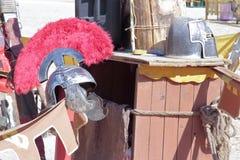 Vieux casques militaires photo libre de droits