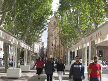 Vieux centre de la ville à Murcie, Espagne Photo stock