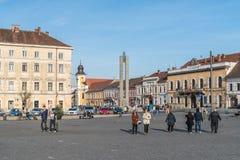Vieux centre de ville de Cluj Napoca Photographie stock libre de droits