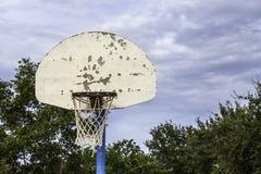 Vieux cercle de basket-ball Image libre de droits