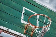 Vieux cercle de basket-ball Images libres de droits