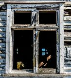 Vieux châssis de fenêtre Image stock